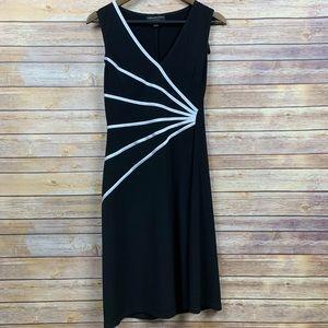 Connected Apparel 10P Sleeveless Black/White Dress